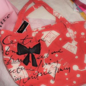 NWT JUICY COUTURE city chic' tote bag with bow